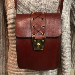 Vintage Etienne Aigner Handmade Leather Bag